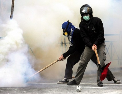 GREECE-STUDENTS-DEMO-CLASHES
