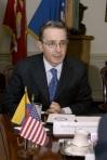 Colombian President Alvaro Uribe-Velez mtg SD Rumsfeld Mar. 22,